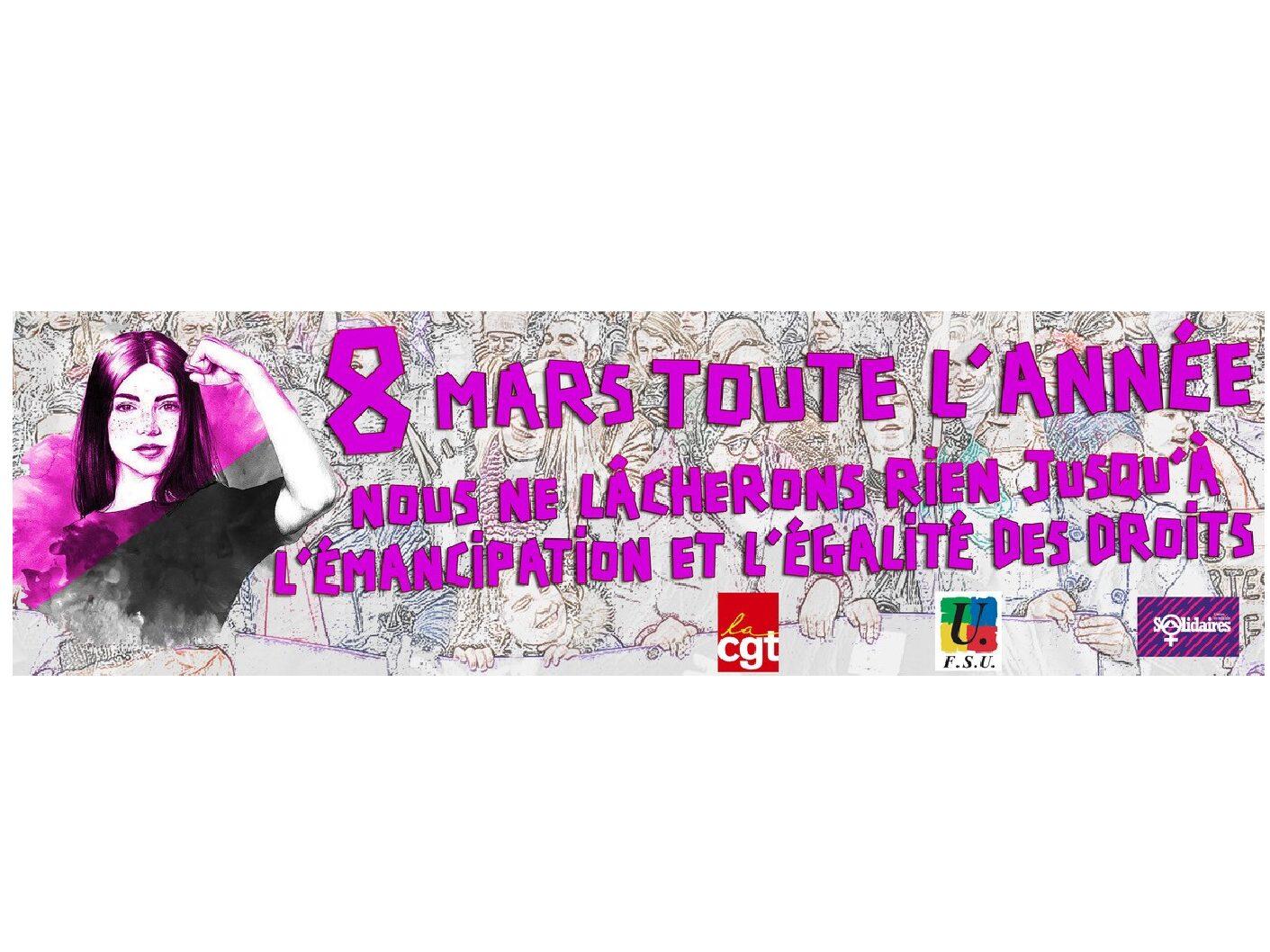RASSEMBLONS-NOUS LUNDI 8 MARS à Orléans pour la journée des droits des Femmes!